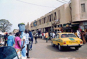 Around Serrekunda market,  March 2003